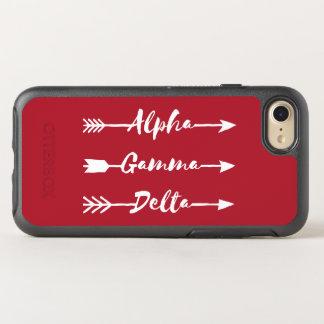 Alphagamma-Deltapfeil OtterBox Symmetry iPhone 8/7 Hülle