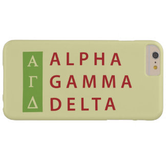 Alphagamma-Dreieck gestapelt Barely There iPhone 6 Plus Hülle