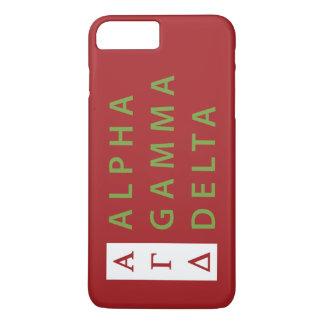 Alphagamma-Dreieck gestapelt iPhone 8 Plus/7 Plus Hülle