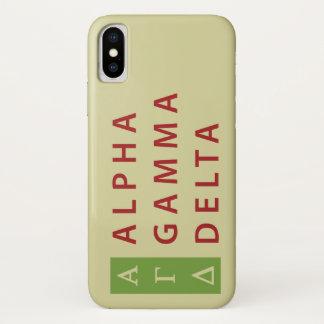 Alphagamma-Dreieck gestapelt iPhone X Hülle
