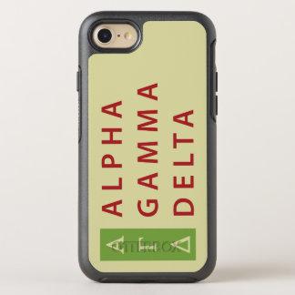 Alphagamma-Dreieck gestapelt OtterBox Symmetry iPhone 8/7 Hülle