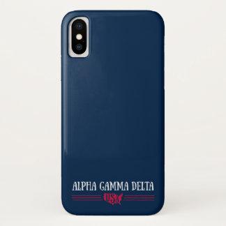 Alphagamma-Dreieck USA iPhone X Hülle