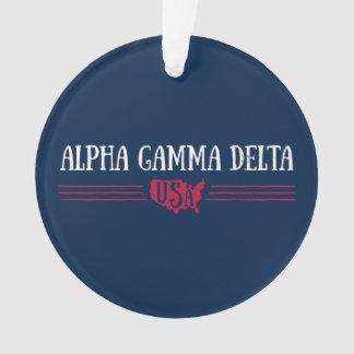 Alphagamma-Dreieck USA Ornament