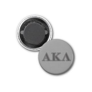 Alphakappa-Lambda-gotische Schriften Runder Magnet 2,5 Cm