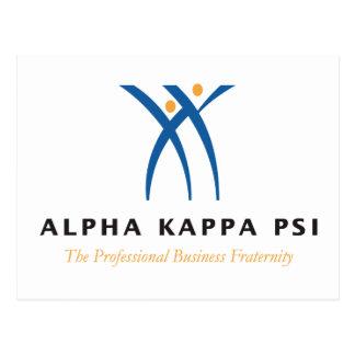 Alphakappa-P-/inname und -logo Postkarte