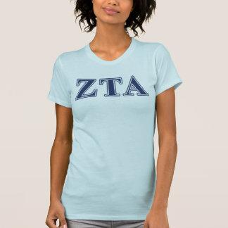 Alphamarine-Buchstaben ZetaTau T-Shirt
