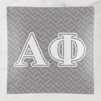 Alphaphi-Bordeaux-Buchstaben Dekoschale