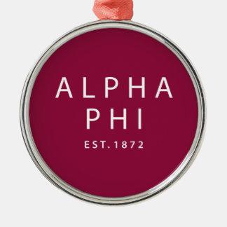 Alphaphi | Est. 1872 Silbernes Ornament