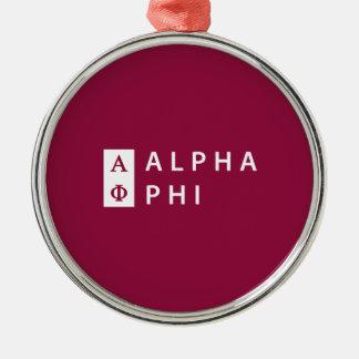Alphaphi | gestapelt silbernes ornament