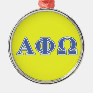 Alphaphi-Omega-Blau-Buchstaben Silbernes Ornament