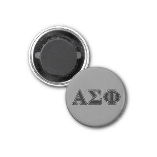 Alphasigma-Phi-gotische Schriften Runder Magnet 3,2 Cm