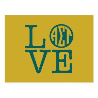 Alphasigmatau-Liebe Postkarte