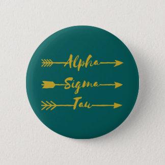 Alphasigmatau-Pfeil Runder Button 5,7 Cm