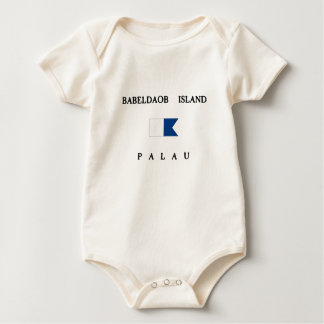 Alphatauchen-Flagge Babeldaob Insel-Palaus Baby Strampler