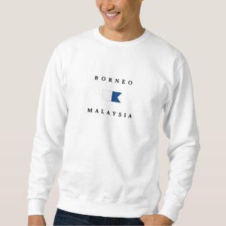 Alphatauchen-Flagge Borneos Malaysia Sweatshirt