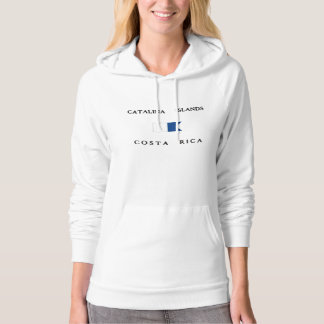 Alphatauchen-Flagge Catalina-Insel-Costa Ricas Hoodie
