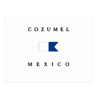 Alphatauchen-Flagge Cozumel Mexiko Postkarte