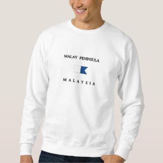 Alphatauchen-Flagge Halbinsel-Malaysias Sweatshirt