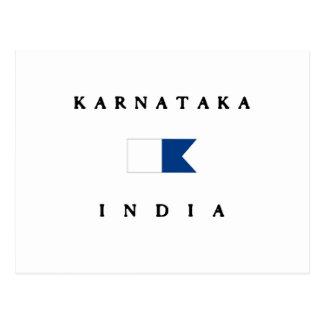 Alphatauchen-Flagge Karnatakas Indien Postkarte