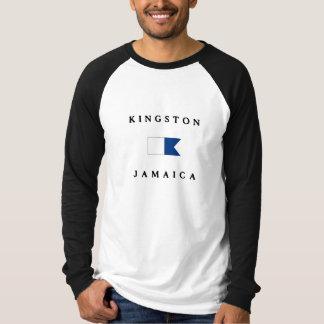 Alphatauchen-Flagge Kingstons Jamaika T-Shirt