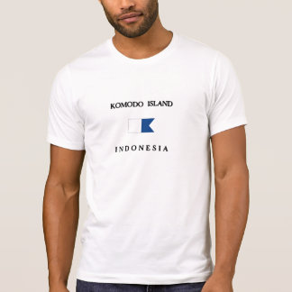 Alphatauchen-Flagge Komodo Insel-Indonesiens T-Shirt
