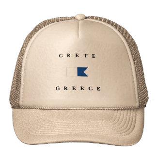 Alphatauchen-Flagge Kretas Griechenland Retromützen