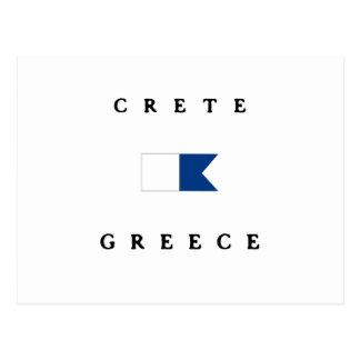 Alphatauchen-Flagge Kretas Griechenland Postkarte