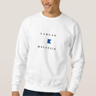 Alphatauchen-Flagge Labuans Malaysia Sweatshirt