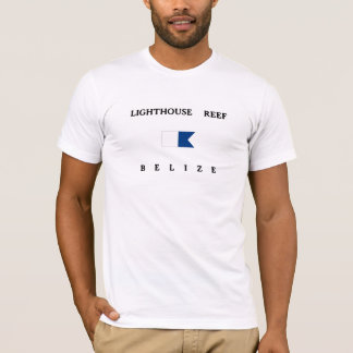 Alphatauchen-Flagge Leuchtturm-Riff-Belizes T-Shirt
