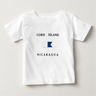 Alphatauchen-Flagge Mais-Insel-Nicaraguas Baby T-shirt