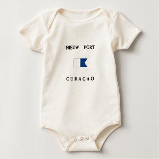Alphatauchen-Flagge Nieuw Hafen-Curaçaos Baby Strampler