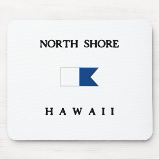 Alphatauchen-Flagge Nordufer-Hawaiis Mousepads
