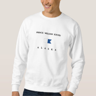 Alphatauchen-Flagge Prinz-William Sound Alaska Sweatshirt