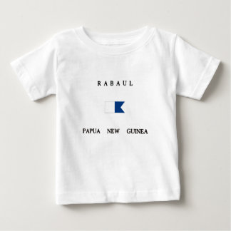 Alphatauchen-Flagge Rabauls Papua-Neu-Guinea Baby T-shirt