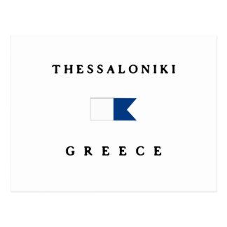 Alphatauchen-Flagge Saloniki Griechenland Postkarte