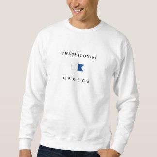 Alphatauchen-Flagge Saloniki Griechenland Sweatshirt