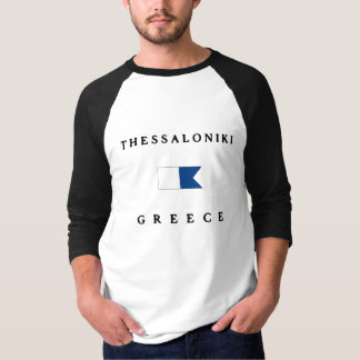 Alphatauchen-Flagge Saloniki Griechenland T-Shirt