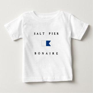 Alphatauchen-Flagge Salz-Pier-Bonaires Baby T-shirt
