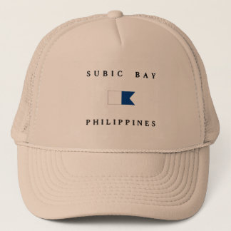Alphatauchen-Flagge Subic Bay Philippinen Truckerkappe