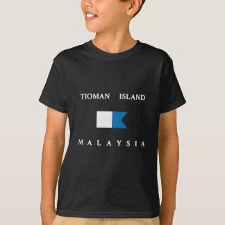 Alphatauchen-Flagge Tioman Insel-Malaysias T-Shirt