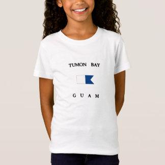 Alphatauchen-Flagge Tumon Bucht-Guams T-Shirt