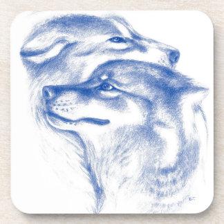 Alphawolf-Liebe-Kunst Getränkeuntersetzer