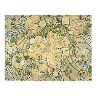 Alphonse Mucha - Blumen Postkarte