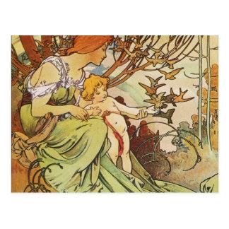 Alphonse Mucha. Chocolat Masson/Mexicain 1897 Postkarte