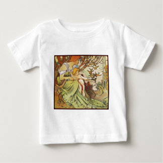 Alphonse mucha chocolat mexicain baby t-shirt