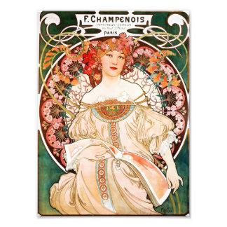 Alphonse Mucha F Champenois Print Photo