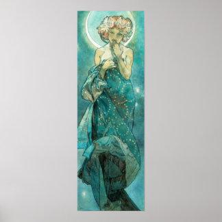 Alphonse Mucha Moonlight Clair De Lune Art Nouveau Poster