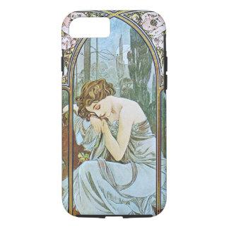 Alphonse Mucha. Repos De La Nuit/nächtlicher iPhone 8/7 Hülle