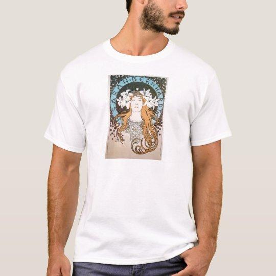 Alphonse Mucha Sarah Bernhardt Jugendstil Art Deco T-Shirt