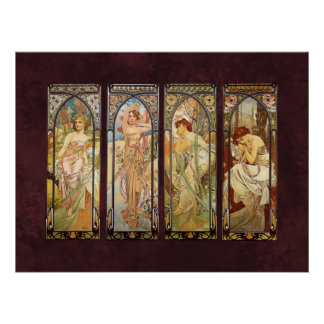 Alphonse Mucha, The Times des Tages Poster